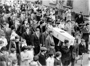 The funeral of nine-year-old Patrick Rooney