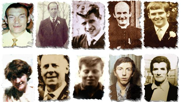 Victims of the Ballymurphy shootings (PA)