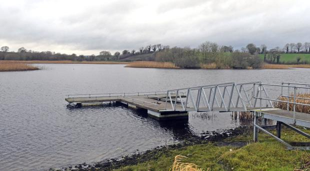 Gortnawinney Lough in Clones, which is being searched