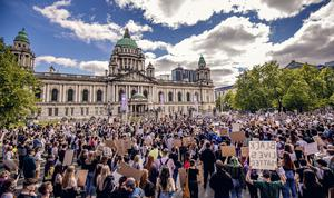 Protest rally over the death of George Floyd is held in Belfast