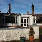 The scene after the blaze at the bungalow of Andy and Laura Whitelaw