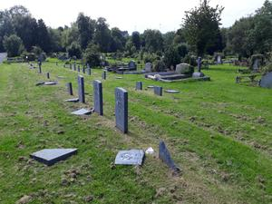 The graves were attacked on Monday night or early on Tuesday