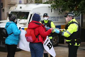 The PSNI's different handling of protests by Black Lives Matter movement and right-wing 'protect our statues' members was highlighted