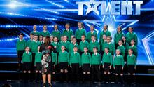 St Patrick's Primary School choir from Co Down sing out on the BGT stage