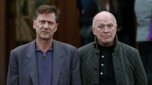 Former Kincora residents Richard Kerr and Gary Hoy outside Belfast High Court