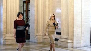 First minister Arlene Foster (left) and Deputy First Minister Michelle O'Neill (PA)