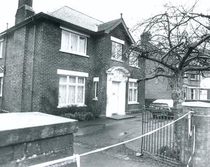 The scene of the murder of solicitor Pat Finucane in 1989