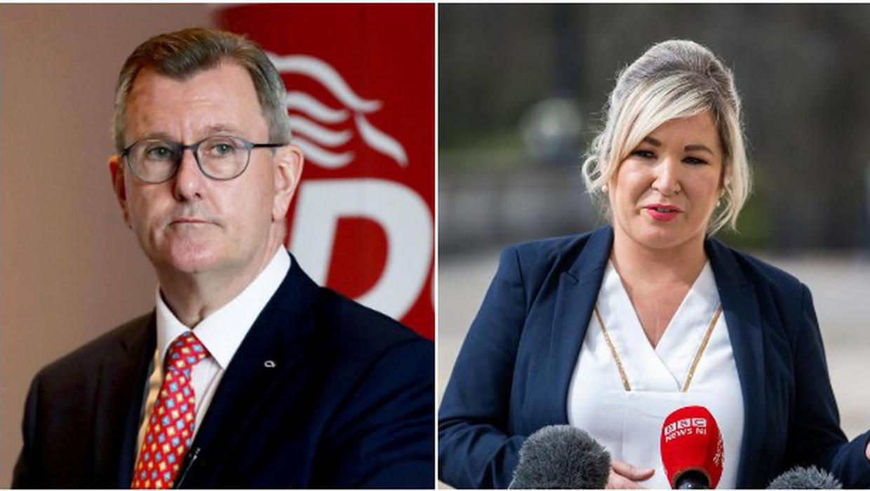 Leaders' questions: Jeffrey Donaldson and Michelle O'Neill quizzed on pandemic, Arlene Foster and a united Ireland