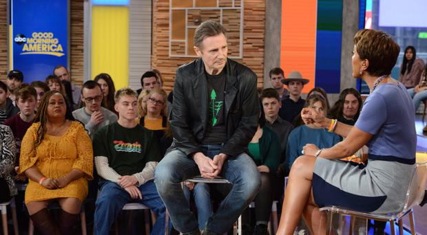 Liam Neeson during an interview, where he shared his feelings following an incident in his past when 'someone close' to him was raped