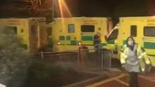 Under pressure: The scene at Daisy Hill Hospital on Saturday night