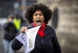 Angel Arutura from Belfast makes her voice heard