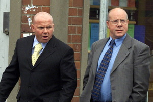 Hitlist: Johnny Adair, left, and John White were allegedly targeted in plots to kill some of Northern Ireland's leading loyalists. Both are now living abroad