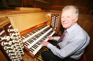 Organist Adrian Anderson's skills are in great demand