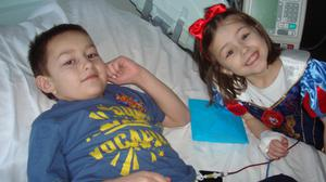 Donor: Josh Fletcher with his little sister Jodie during treatment for blood disorder