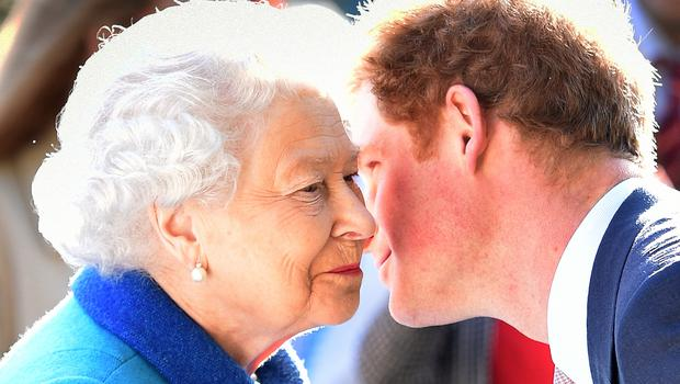 The Queen, who has given Harry a title, greets her grandson at the Chelsea Flower Show (Julian Simmonds/The Daily Telegraph/PA)