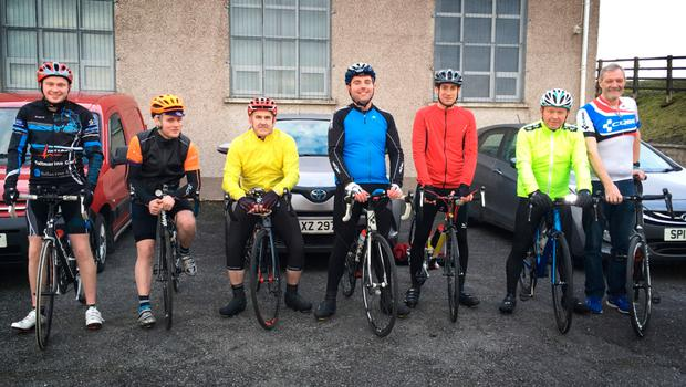 Members of Aughintober cycling club are preparing for the fundraising event in aid of the Drew Nelson legacy