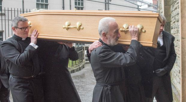 Funeral of former Church of Ireland bishop James Mehaffey at St Columb's Cathedral on Saturday