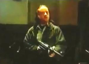 The powerful Northern Ireland Office television ad that first ran in 1993 used disturbing images of gunmen opening fire on customers in a pub to depict the futility of violence