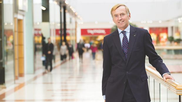 Intu chief executive Matthew Roberts. The company has sold the Sprucefield retail park in Lisburn for £40 million (Intu/PA)