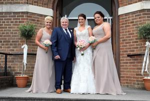 John with Kerry and with her bridesmaids Donna and Lorna