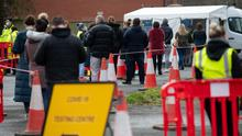 New figures show that Covid-19 case rates have fallen across nearly 95% of local authorities in the UK (Jacob King/PA)