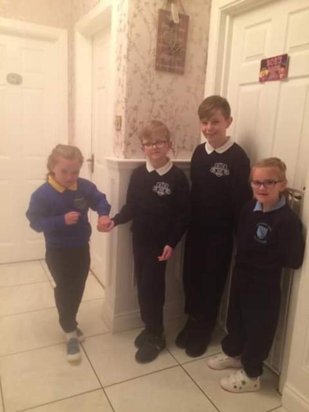 Zoey with her siblings (Zoey far left), twin Ruby, Paudie (8) and Alex (11)