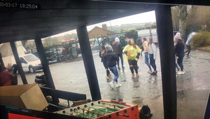 CCTV images taken outside Armagh City Auctions on St Patrick's Day