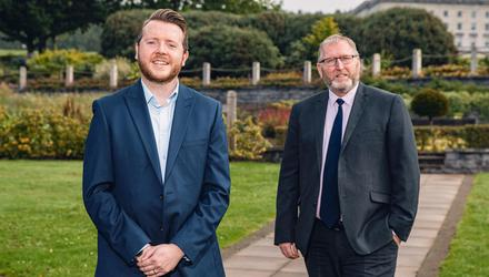 UUP's Stephen McCarthy and Doug Beattie on September 15, 2021 (Photo by Kevin Scott for Belfast Telegraph)