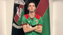 New colours: Jay Donnelly at The Oval after signing for Glentoran