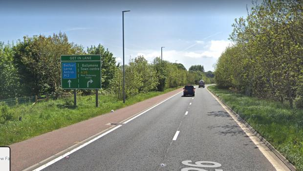 The stretch of A26 at Ballymena which is at the centre of the council's proposal