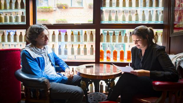 Gary Lightbody of Snow Patrol during an interview with Claire McNeilly in Belfast on May 22nd 2018 (Photo by Kevin Scott / Belfast Telegraph)