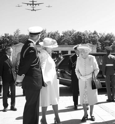 The Queen attends the D-Day ceremonies in Normandy