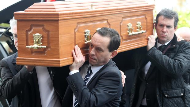 Francie Brolly's funeral at St Patrick's Church in Dungiven
