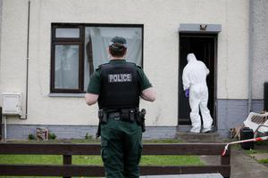 Police at a property on Orkney Drive