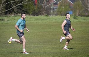 Ulster players training together