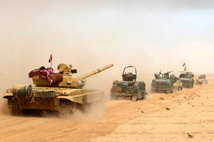 Iraqi forces move into al-Shurah, south of Mosul yesterday