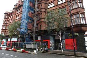The planned city centre George Best hotel lies in disrepair