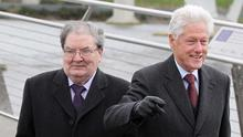 John Hume with former US President Bill Clinton