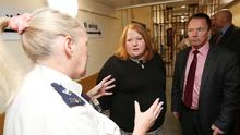 More than one in ten of prison officers have had to go into self-isolation, Naomi Long has said