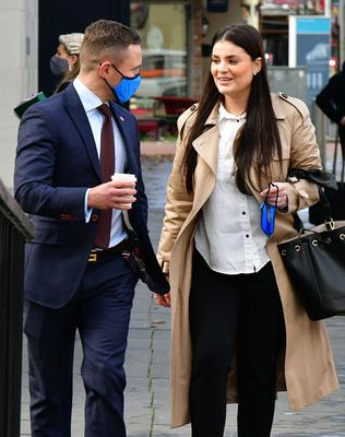 Court action: Carl Frampton and his wife Christine yesterday