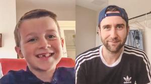 Harry Potter star Matthew Lewis during a virtual masterclass with Joshua McLees