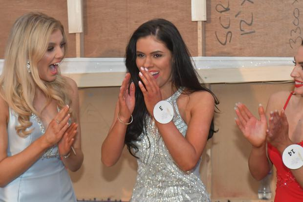 Miss Northern Ireland Lauren Leckey at the Europa Hotel in Belfast after being crowned this year's winner