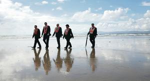 Marchers take part in the annual Rossnowlagh orange parade in Co Donegal on Saturday