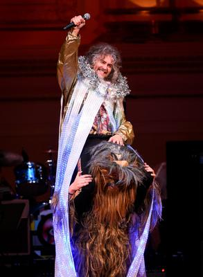 Cyndi Lauper, Debbie Harry, former REM singer Michael Stipe and Wayne Coyne (pictured) and The Flaming Lips were among the performers at The Music of David Bowie at Carnegie Hall in New York