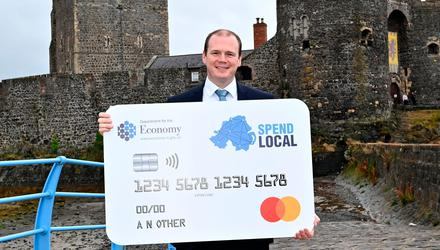 Push: Gordon Lyons had been urged to open the voucher scheme. Credit: Department for the Economy