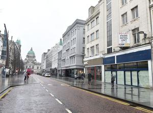 Belfast city centre was nearly deserted