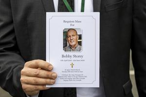 The order of service for the funeral of Bobby Storey (Liam McBurney/PA)