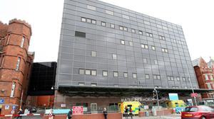 A small number of medical procedures are not going ahead in Belfast in preparation for Covid-19. The Mater Hospital will be used to deal with an increase in cases (Paul Faith/PA).