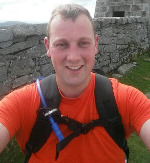 James Gilpin trekking the Mournes