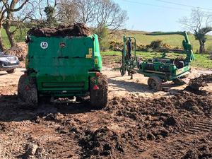 Stolen farm machinery found buried on farmland near Belfast by the PSNI earlier this year